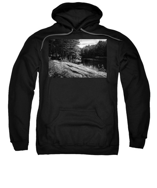Sweatshirt featuring the photograph Pondside by Mark Myhaver