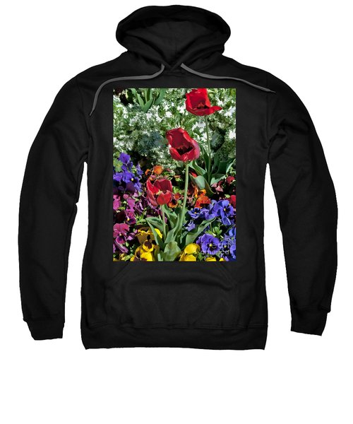 Sweatshirt featuring the photograph Poppies by Mae Wertz