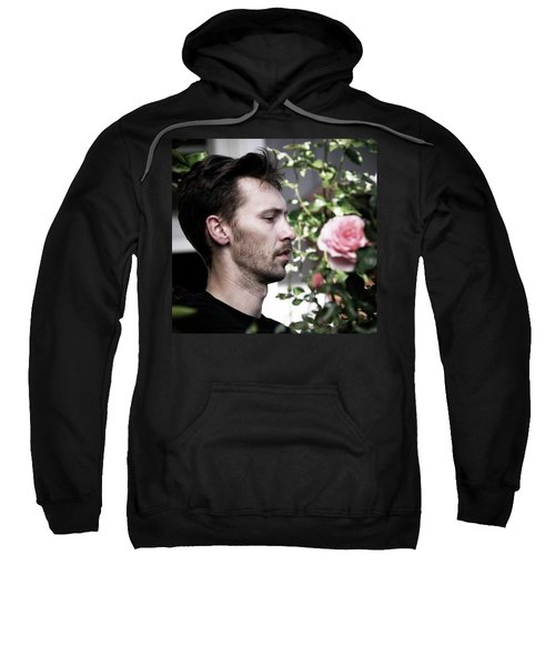 Portrait Of A Man And A Rose Sweatshirt