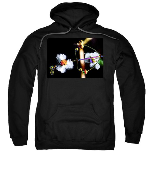Sweatshirt featuring the photograph Powder Flower by Kim Pate