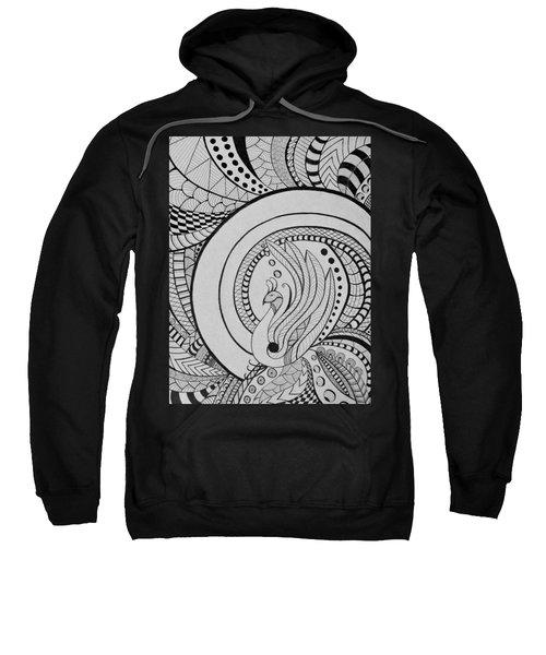 Psychedelic Peacock - Zentangle Drawing - Ai P.nilson Sweatshirt