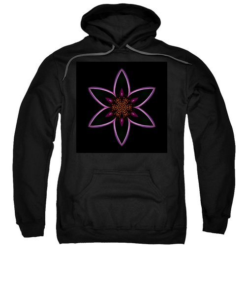 Purple Echinacea Flower Mandala Sweatshirt