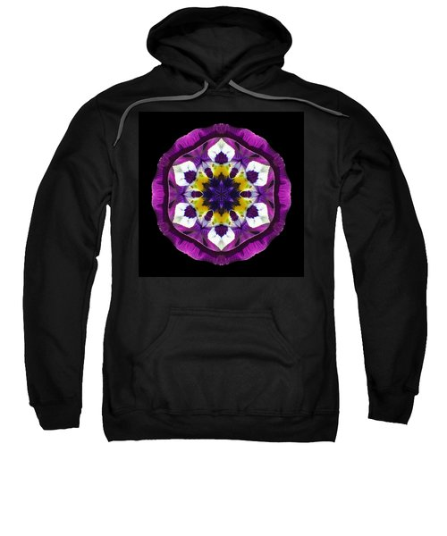 Purple Pansy II Flower Mandala Sweatshirt