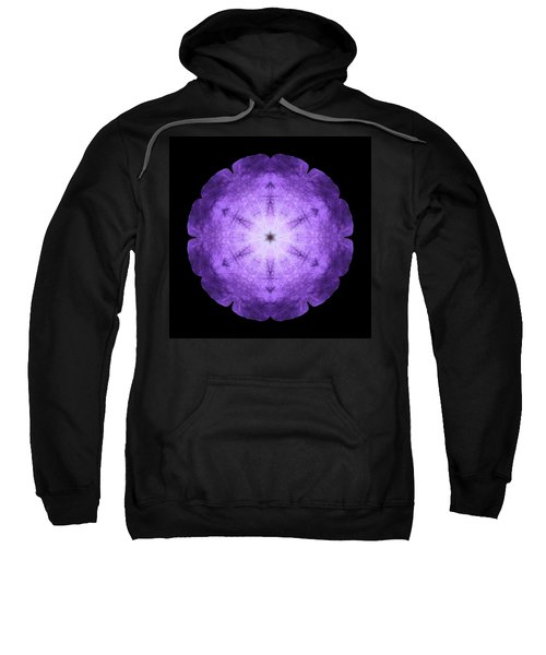 Purple Petunia I Flower Mandala Sweatshirt