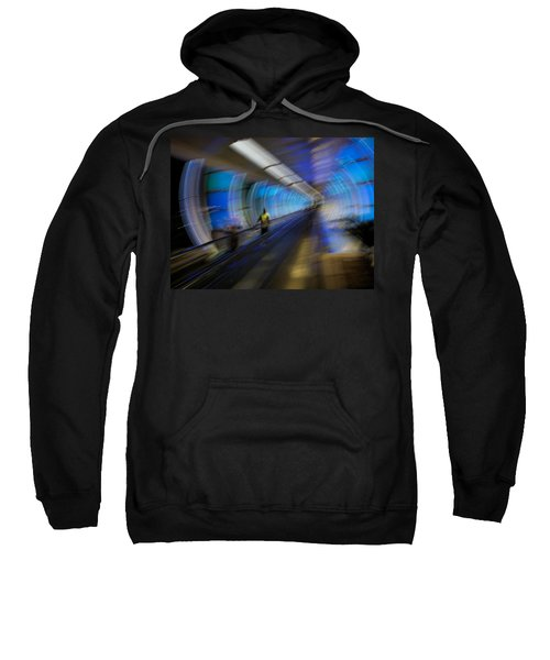 Sweatshirt featuring the photograph Quantum Tunneling by Alex Lapidus