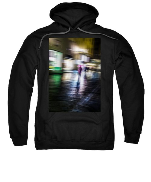 Sweatshirt featuring the photograph Rainy Streets by Alex Lapidus
