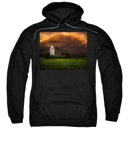 Red Barn Stormy Sky - Rustic Dreams Sweatshirt
