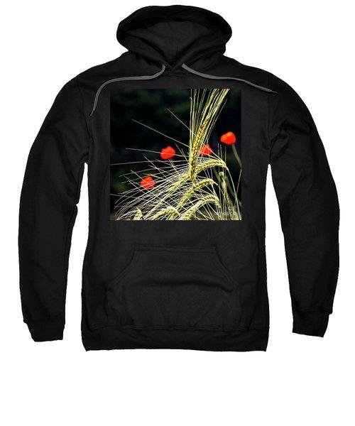 Red Corn Poppies Sweatshirt