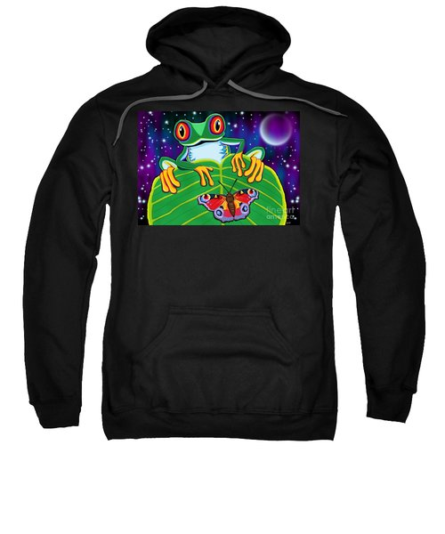Red Eyed Tree Frog And Moth Sweatshirt