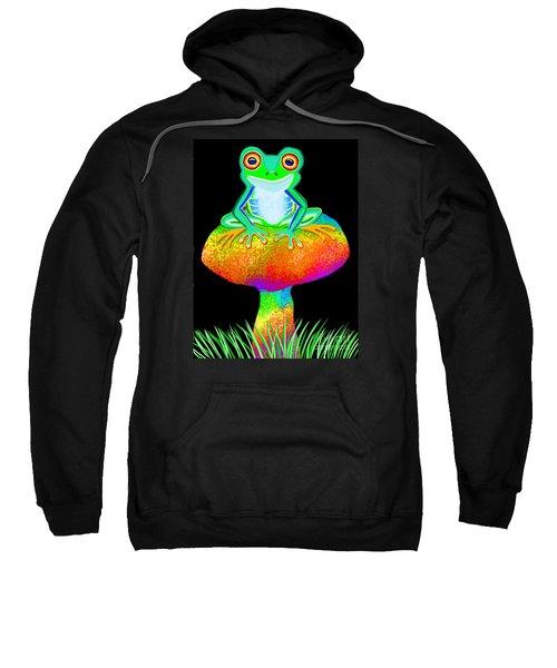 Red Eyed Tree Frog And Mushroom Sweatshirt