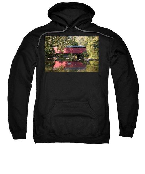 Red Fairhill Covered Bridge Two Sweatshirt