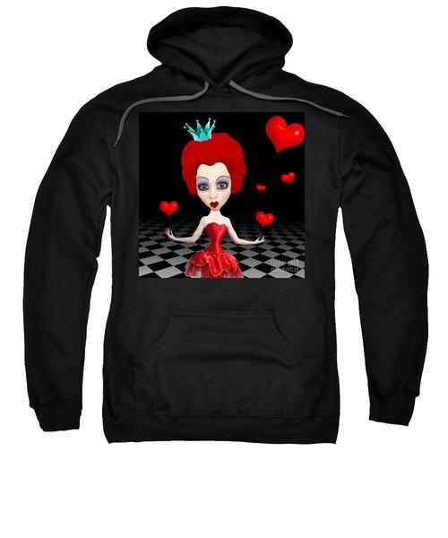 Red Queen Of Hearts Sweatshirt