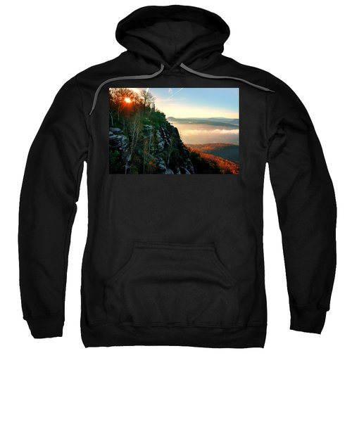 Red Sun Rays On The Lilienstein Sweatshirt