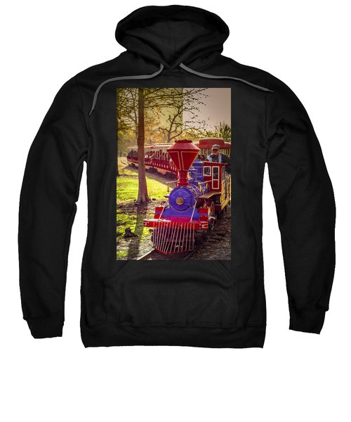Riding Out Of The Sunset On The Hermann Park Train Sweatshirt