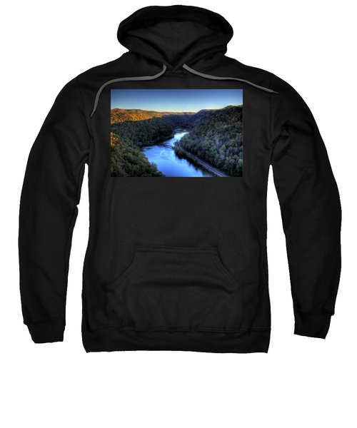 Sweatshirt featuring the photograph River Cut Through The Valley by Jonny D