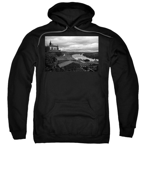 River Mino And Portugal From Tui Bw Sweatshirt