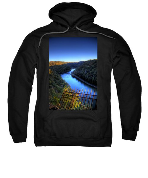 Sweatshirt featuring the photograph River Through A Valley by Jonny D