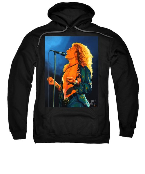 Robert Plant Sweatshirt by Paul Meijering
