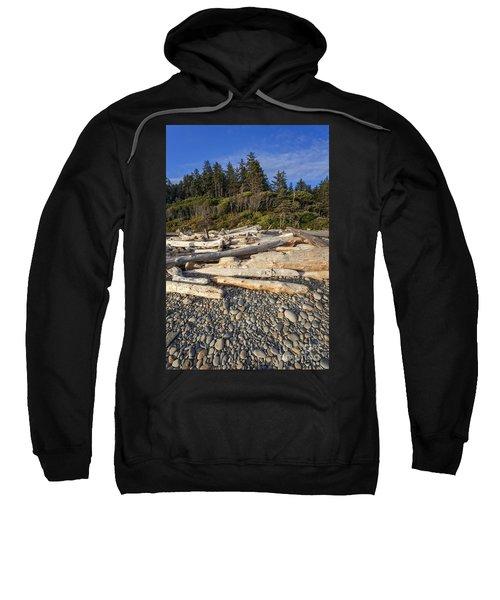 Rocky Beach And Driftwood Sweatshirt
