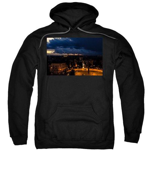 Rome Cityscape At Night  Sweatshirt