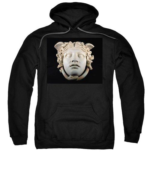 Rondanini Medusa, Copy Of A 5th Century Bc Greek Marble Original, Roman Plaster Sweatshirt