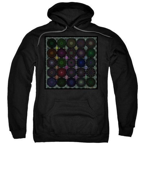 Rose Window Kaleidoscope Quilt Sweatshirt