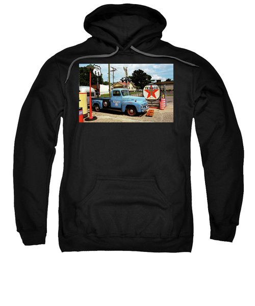 Route 66 - Gas Station With Watercolor Effect Sweatshirt