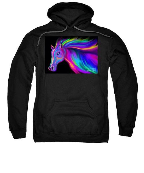 Running Rainbow Stallion2 Sweatshirt