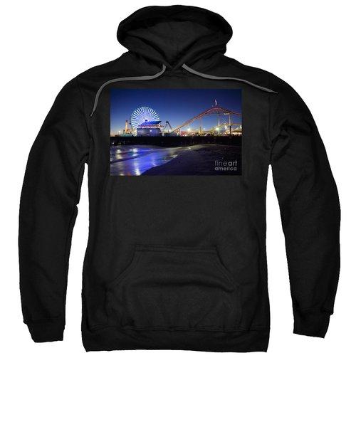 Santa Monica Pier At Night Sweatshirt