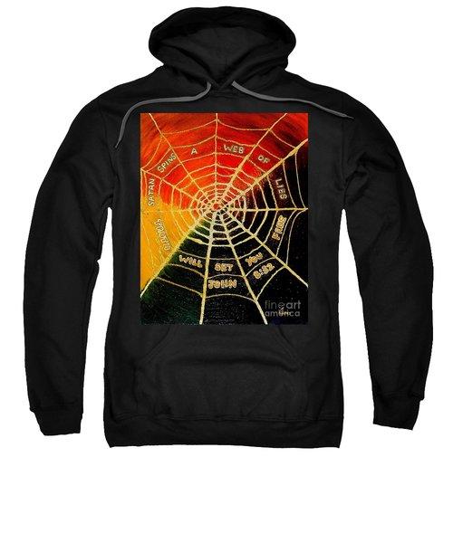 Satan's Web Of Lies Sweatshirt
