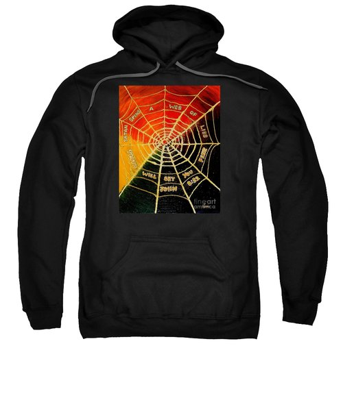 Satan's Web Of Lies Sweatshirt