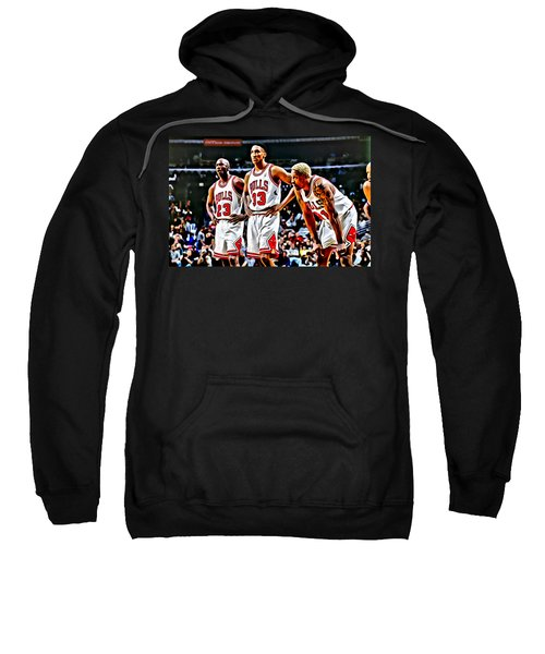 Scottie Pippen With Michael Jordan And Dennis Rodman Sweatshirt