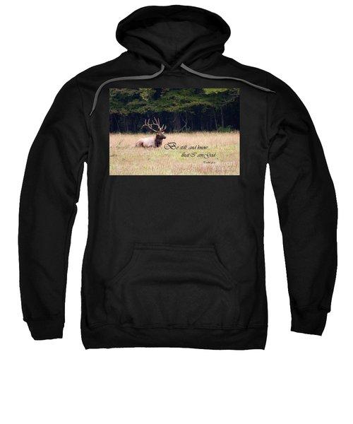 Scripture Photo With Elk Sitting Sweatshirt