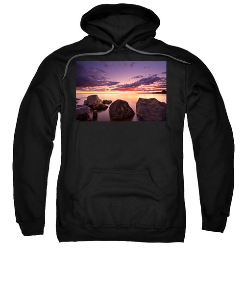 Sea At Sunset The Sky Is In Beautiful Dramatic Color Sweatshirt