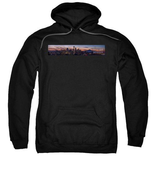 Seattle Cityscape Morning Light Sweatshirt by Mike Reid