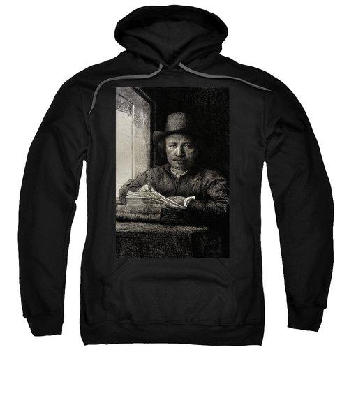 Self-portrait Etching At A Window Sweatshirt