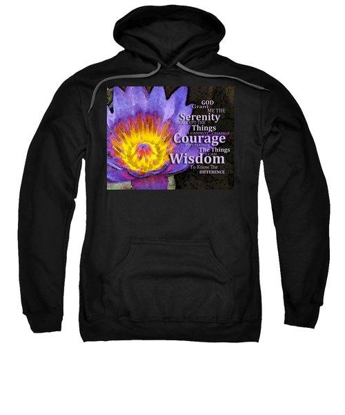Serenity Prayer With Lotus Flower By Sharon Cummings Sweatshirt