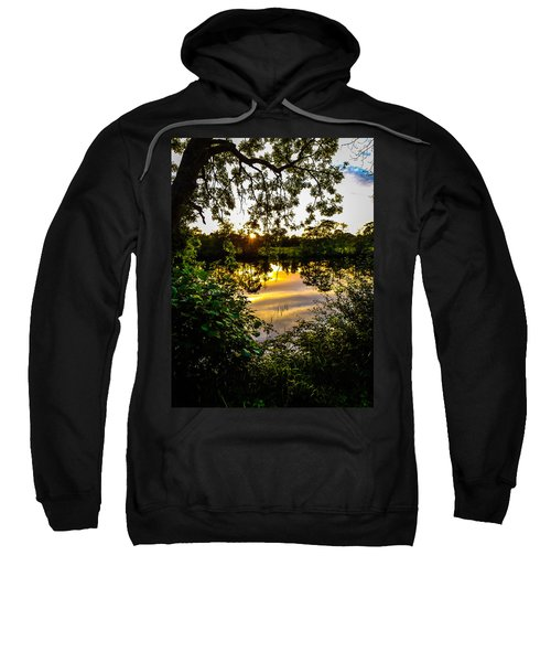 Sweatshirt featuring the photograph Shannon River Sunset At Roosky by James Truett