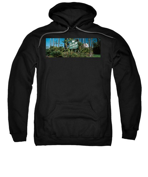 Signboard Of A Hotel, Beverly Hills Sweatshirt by Panoramic Images