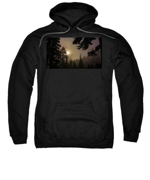 Silhouettes Of Trees On Mt Rainier II Sweatshirt