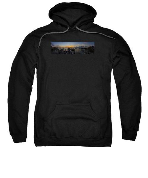Silver Lake Sunset Panorama Sweatshirt