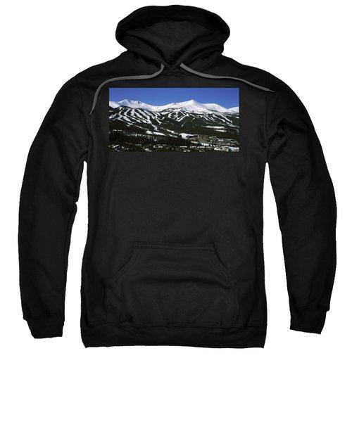 Ski Resorts In Front Of A Mountain Sweatshirt