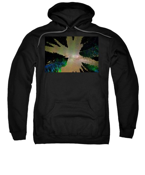 Sleeping Under The  Milky Way Stars Sweatshirt