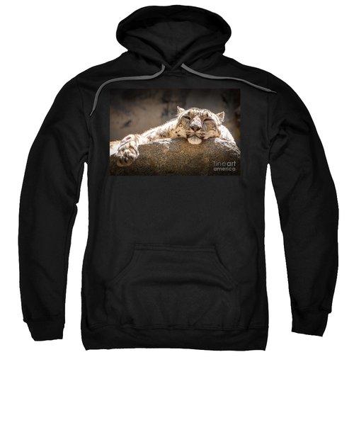 Snow Leopard Relaxing Sweatshirt