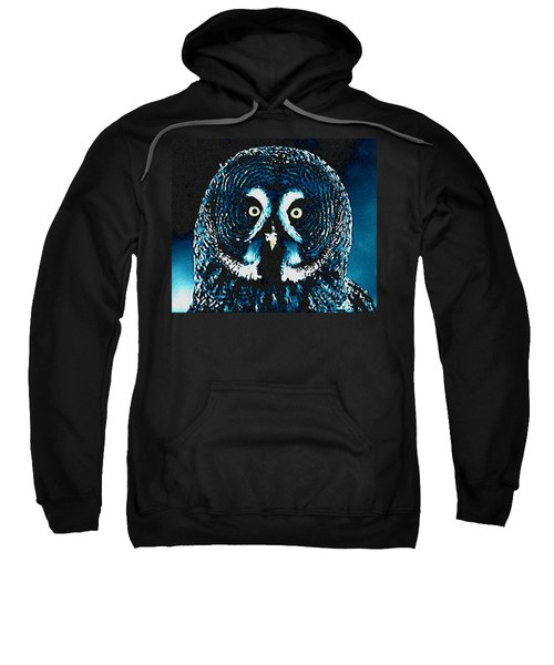 Sweatshirt featuring the painting Snow Owl by Colette V Hera  Guggenheim