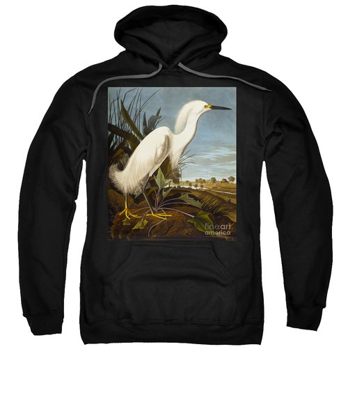 Snowy Heron Or White Egret Sweatshirt