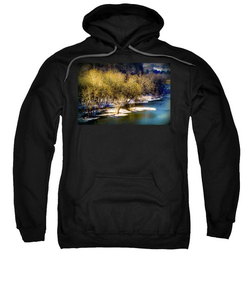 Snowy River Sweatshirt by Karen Wiles