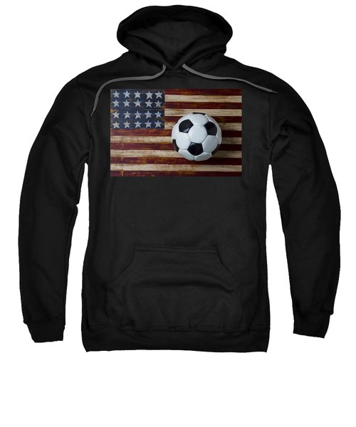 Soccer Ball And Stars And Stripes Sweatshirt