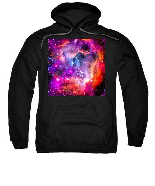 Space Image Small Magellanic Cloud Smc Galaxy Sweatshirt by Matthias Hauser