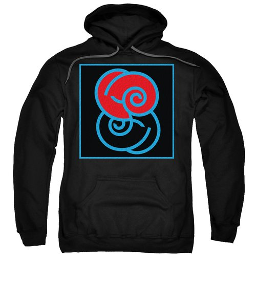 Sweatshirt featuring the digital art Spirals by Mihaela Stancu